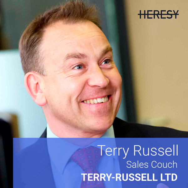 Heresy podcast 4: Terry Russell, Sales Coach @ JustEat & Funding Circle on scaling sales